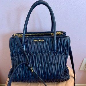 Miu Miu Matelasse Leather Tote bag - Blue
